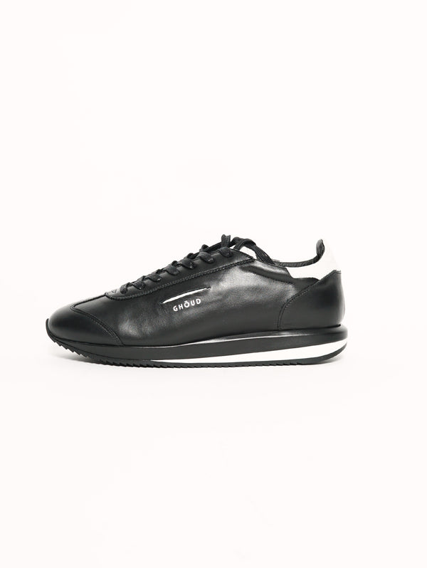 GHOUD-Sneaker con Suola Oversize in Pelle Nero-TRYME Shop