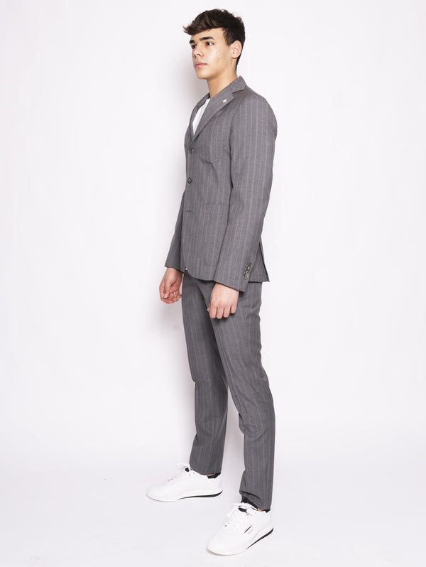 Gray pinstripe cloud suit