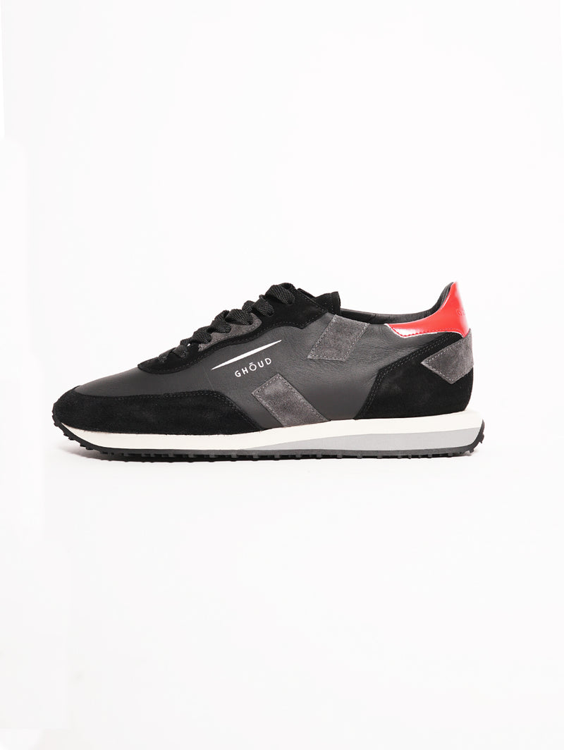 GHOUD-Sneakers Man RUSH Nero / Grigio-TRYME Shop
