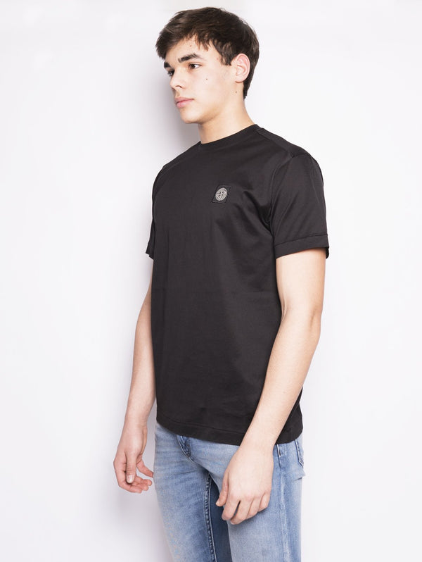 24141 - T-shirt in cotone Nero-T-shirt-STONE ISLAND-TRYME Shop
