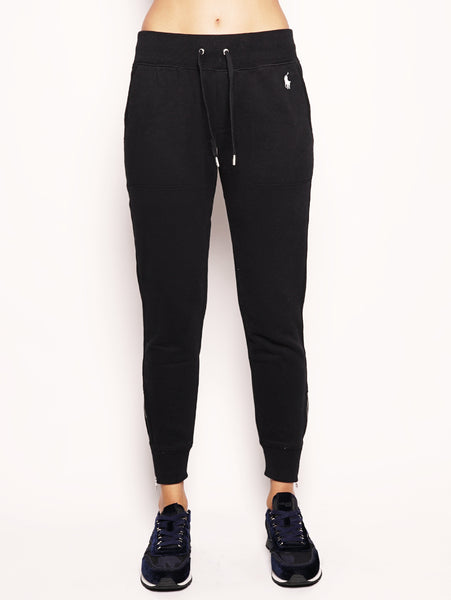 Pantaloni in felpa con coulisse  Nero