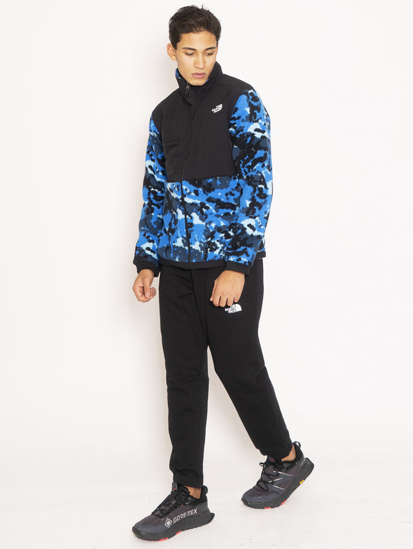 Giacca in Pile Camouflage - Blu