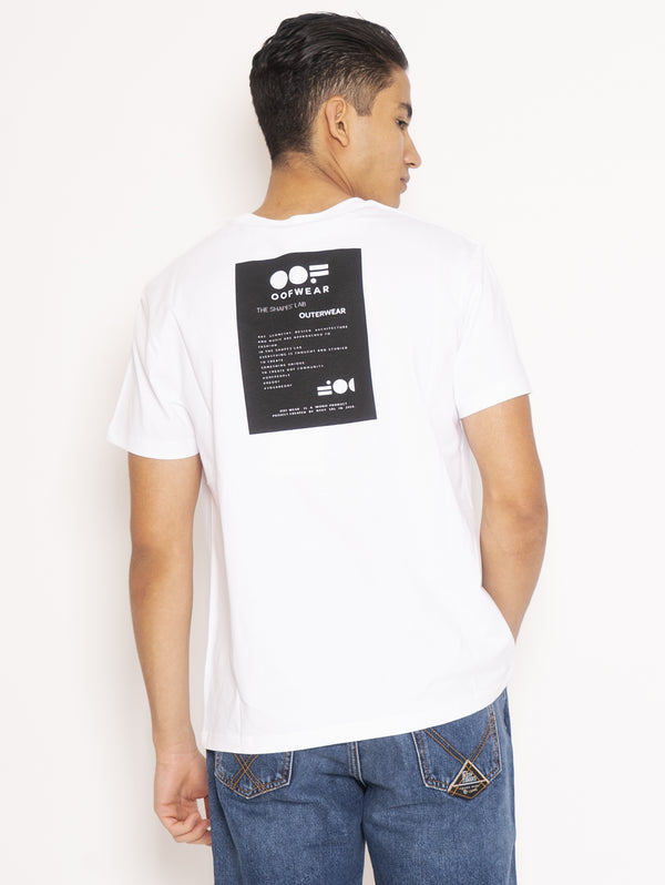 T-shirt con Stampa Bianco