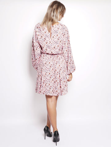ESSENTIEL Abito midi in fantasia - Rachid Long Sleeved Dress Rosa Trymeshop.it