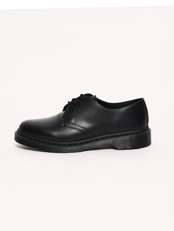 DR. MARTENS-1461 MONO Black Smooth Nero-TRYME Shop