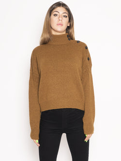 CLOSED-Turtle Neck Sweater Marrone-TRYME Shop