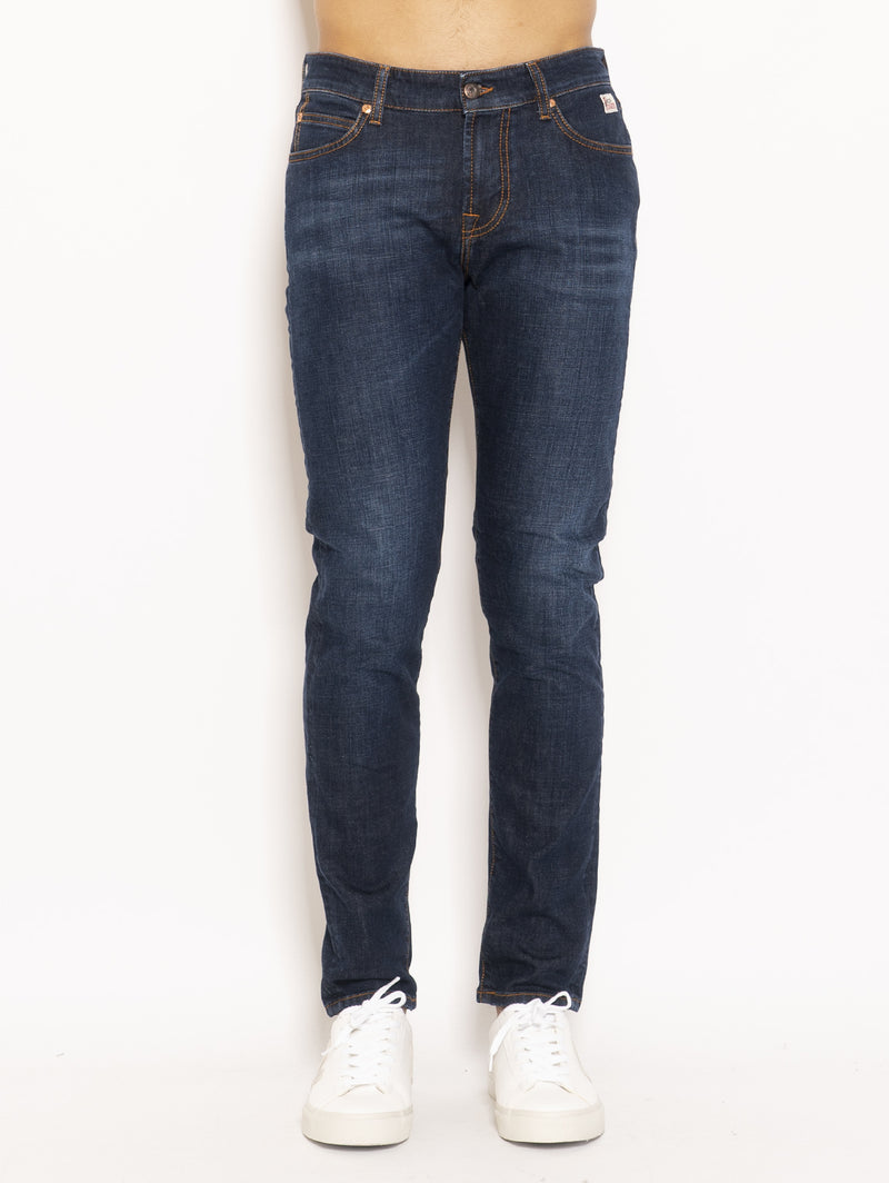 ROY ROGERS-Jeans 517 Denim Stretch Pater Blu-TRYME Shop