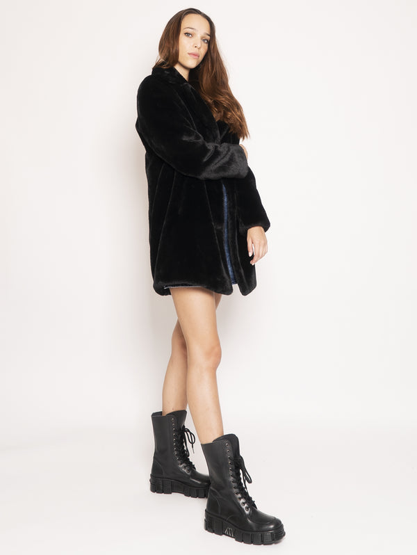 Ecofur coat - Black