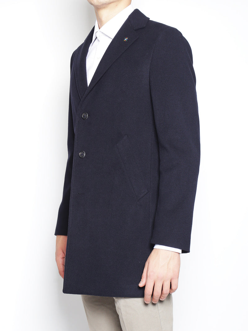 Cappotto tre bottoni 2132C4448 163726 NAVY-Cappotto-Manuel Ritz-TRYME Shop