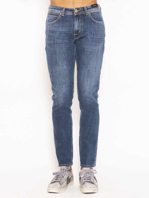 BRIGLIA 1949-Jeans slim fit Ribot - Denim-TRYME Shop