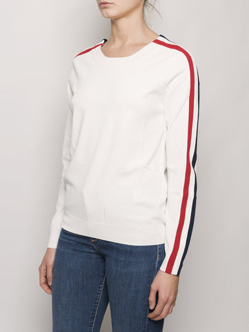 Maglia con bande laterali RUNNER D510754 Bianco P.A.R.O.S.H. TRYMEShop