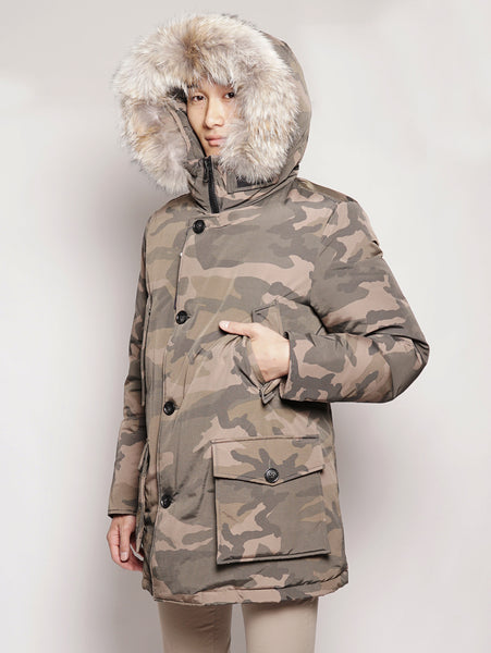 Camou Arctic Parka Brown Camou