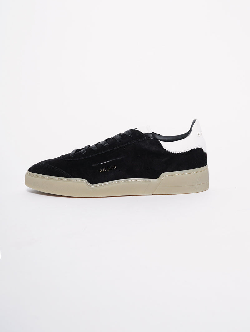 GHOUD-Sneakers in pelle Nero Scamosciato-TRYME Shop