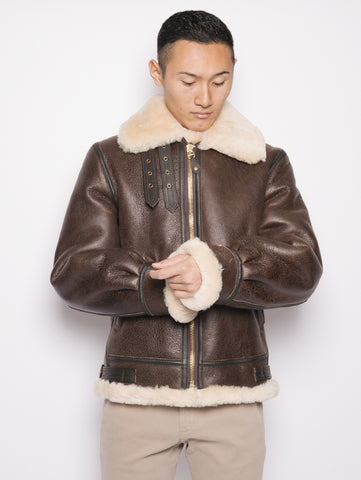 SCHOTT Giacca 257S in Shearling   Marrone Trymeshop.it