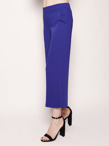P.A.R.O.S.H. Pantalone cropped - PANTERY D230106X Blu Royal Trymeshop.it