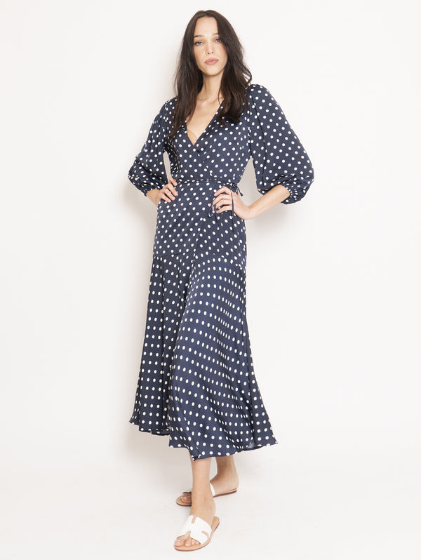 Blue Vundamental Wrap Dot Dress
