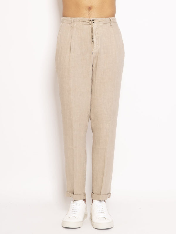 40WEFT-Chino in Lino Beige-TRYME Shop