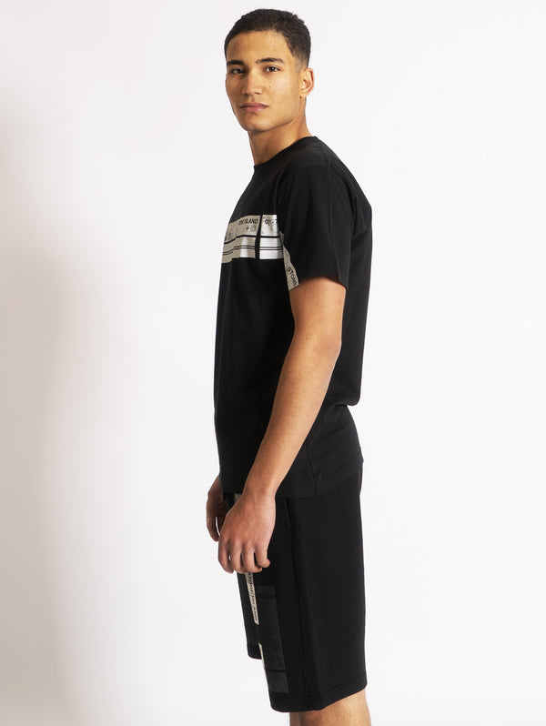 T-shirt con Stampa Block One Nero