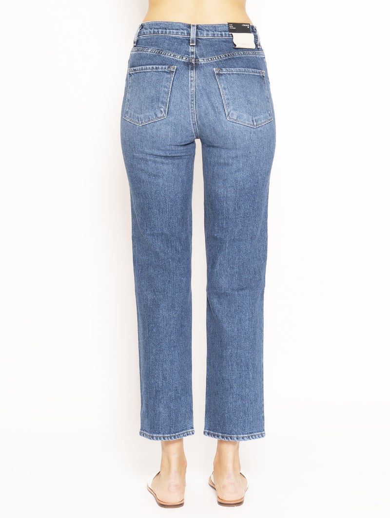 Jeans Sostenibile Jules High Rise Ankle Straight Blu