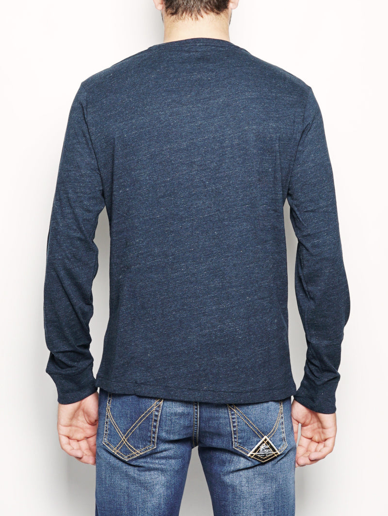 Maglia in cotone maniche lunghe Navy-T-shirt-RALPH LAUREN-TRYME Shop