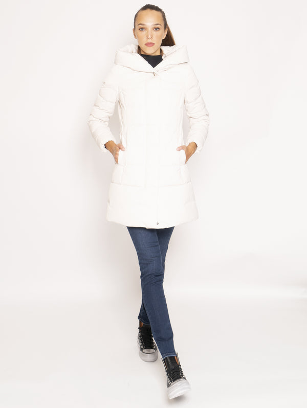 WOOLRICH-Giaccone Parka in City Fabric - Bianco-TRYME Shop