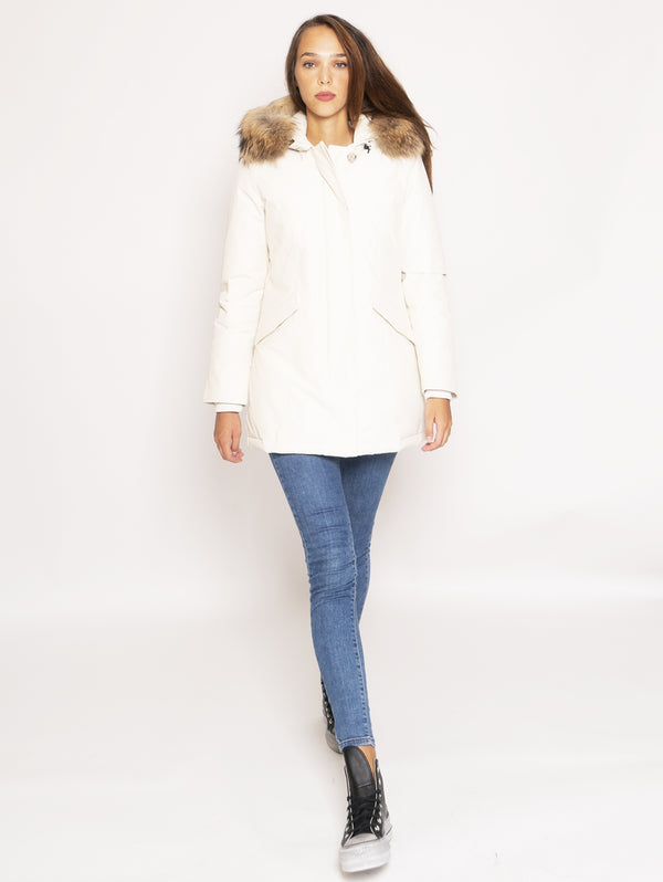 WOOLRICH-Giaccone Parka in Ramar - Bianco-TRYME Shop