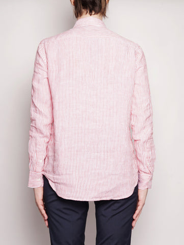 RALPH LAUREN Camicia in lino a righe Bianco / Rosso Trymeshop.it