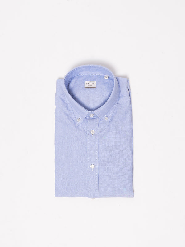 XACUS-Camicia button down - 768ML 51117 Blu-TRYME Shop