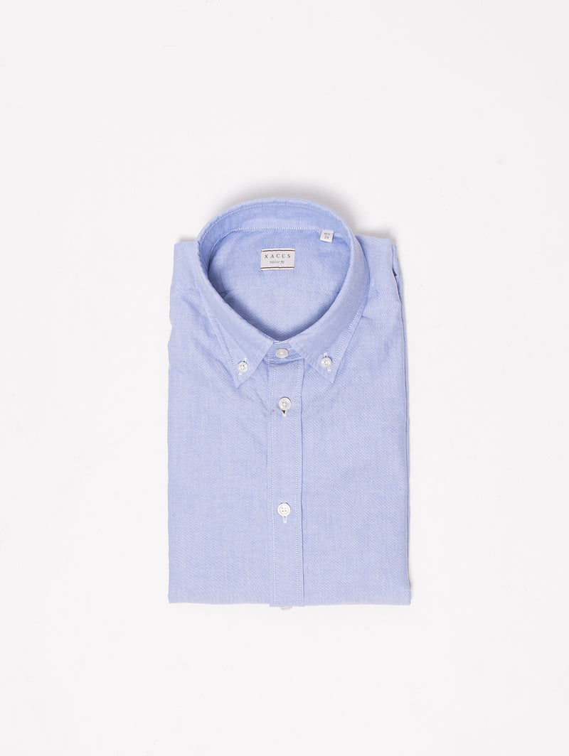XACUS-Camicia Button Down Blu-TRYME Shop