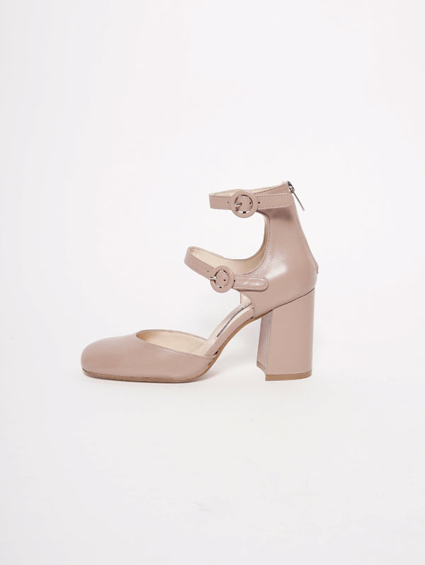 CHIARINI BOLOGNA-Mary Jane in pelle - 924 Blush-TRYME Shop