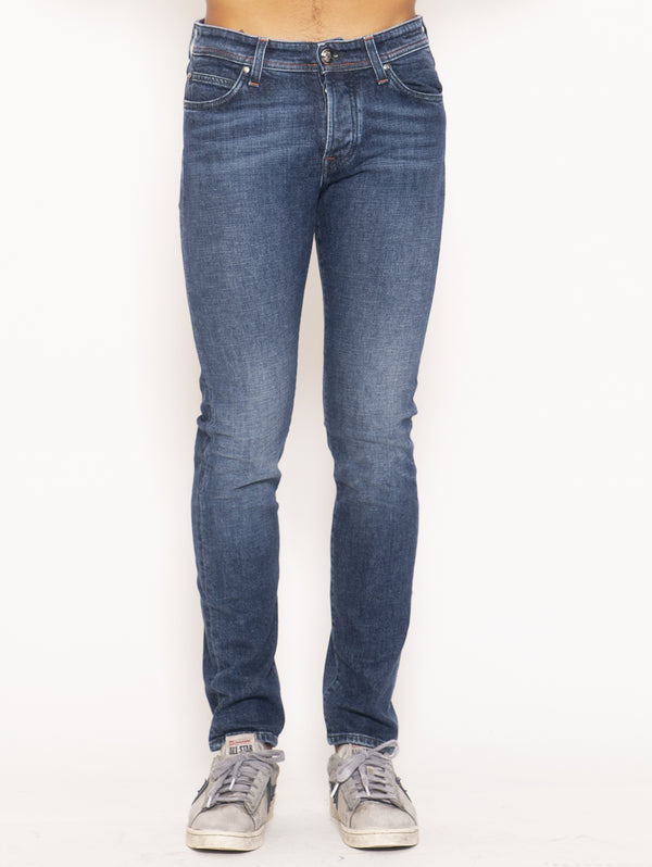 ROY ROGERS-Jeans Slim Fit W529 - Blu-TRYME Shop