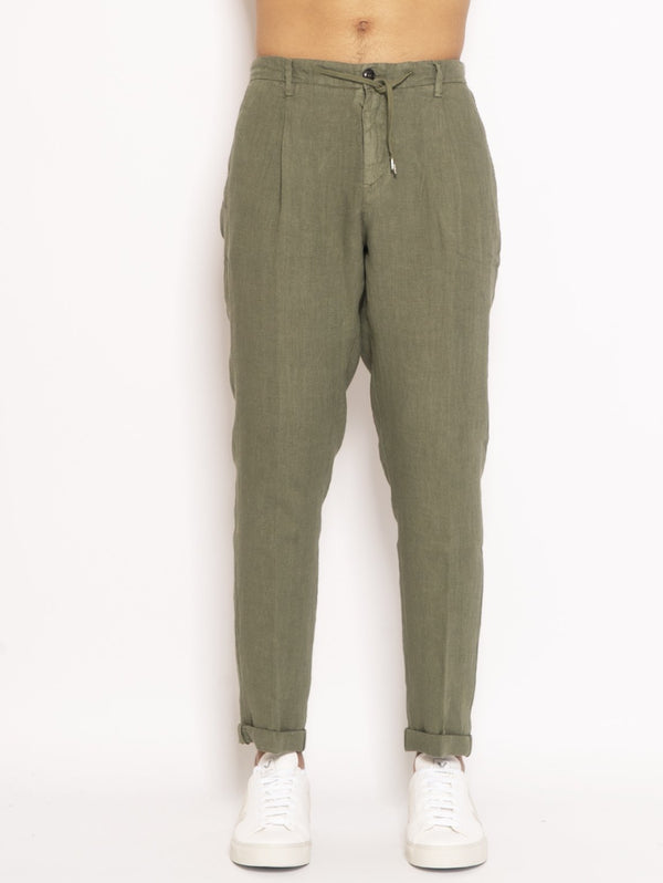 40WEFT-Chino in Lino Verde-TRYME Shop