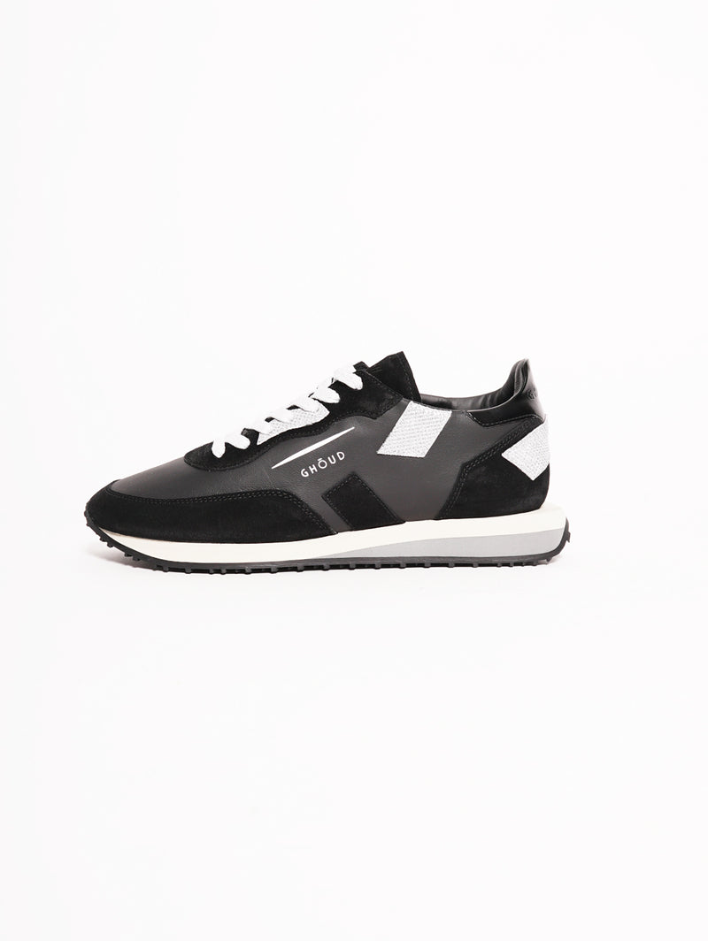 GHOUD-Sneakers Rush Nero / Argento-TRYME Shop