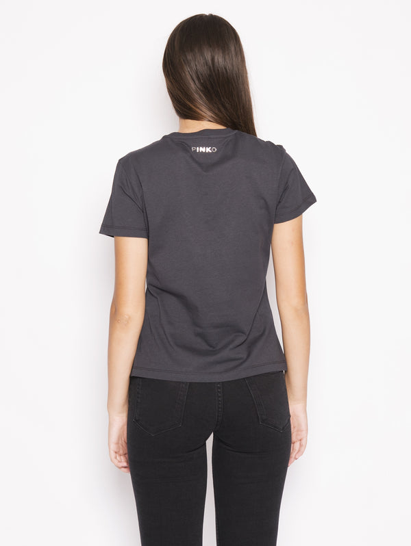 Radiare - T-shirt in cotone con stella applicata Nero