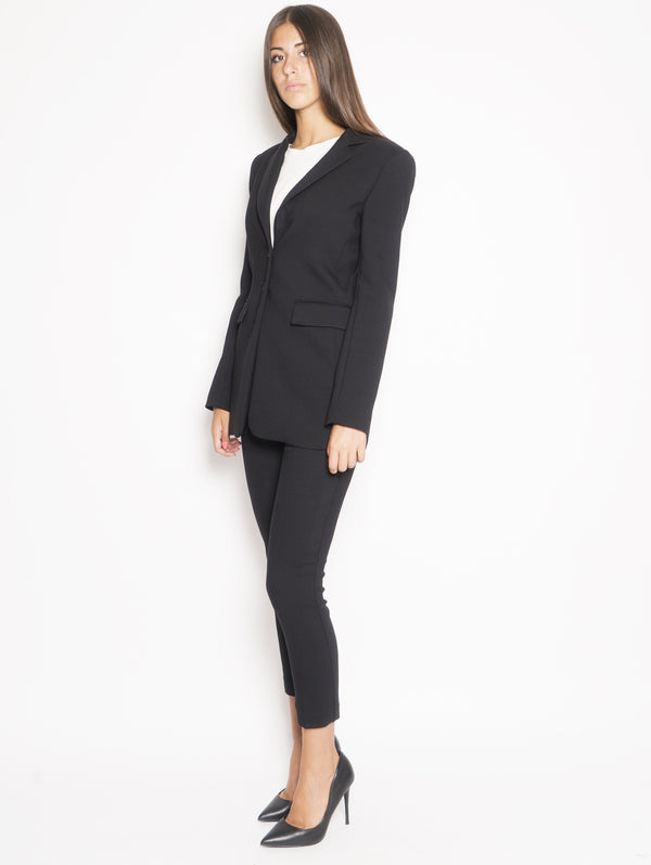 Blazer with Cinta Ledere Black