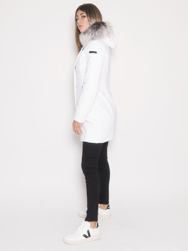Parka Winter Long Lady F Bianco
