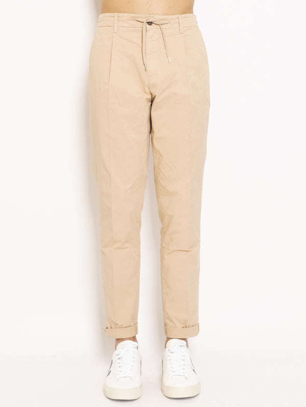 40WEFT-Chino con Coulisse Beige-TRYME Shop