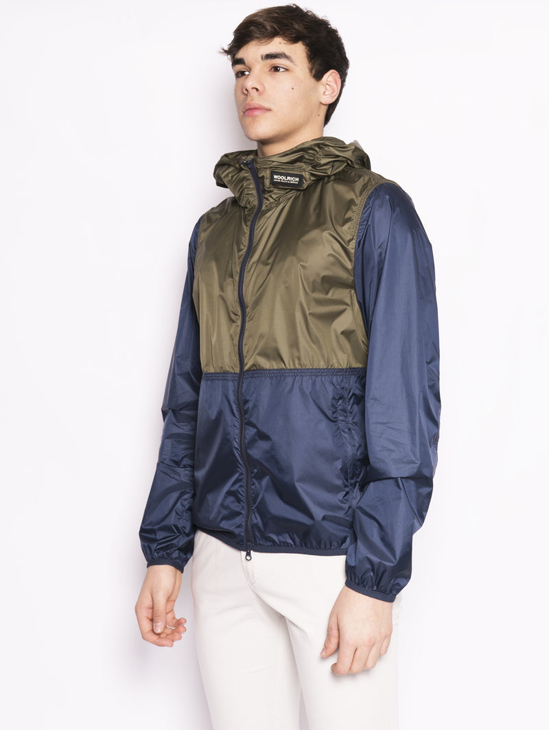 South Bay Windbreak - Giacca antivento bicolore Blu / Verde-Capospalla-WOOLRICH-TRYME Shop