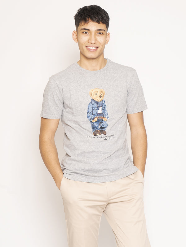 T-shirt Polo Bear Grigio