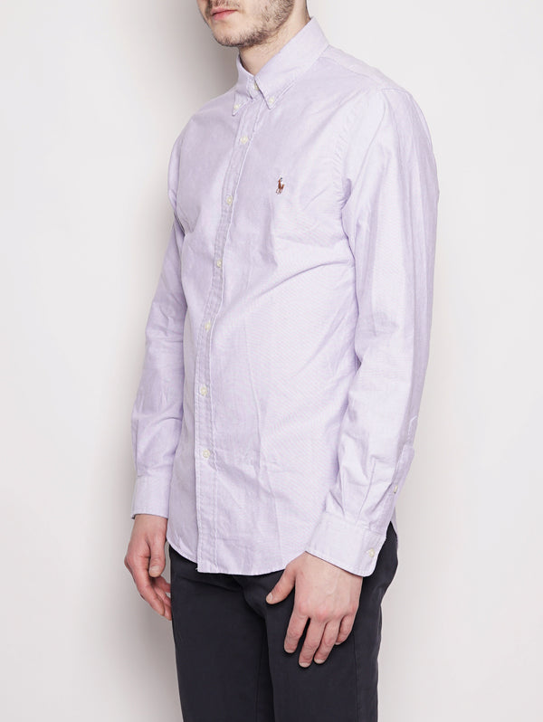 Camicia Oxford in cotone Slim-Fit Lilla-Camicie-RALPH LAUREN-TRYME Shop