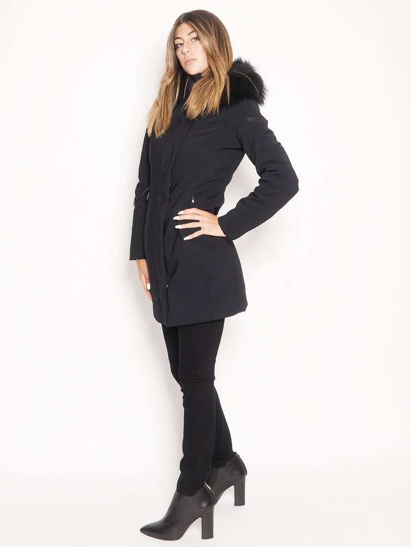 Parka Winter Long Lady F Nero