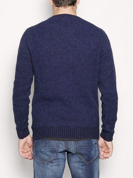 40WEFT ANSELMO - Pullover in misto Mohair Blu navy Trymeshop.it