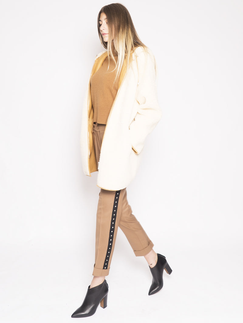 P.A.R.O.S.H.-Giaccone Mago Beige-TRYME Shop