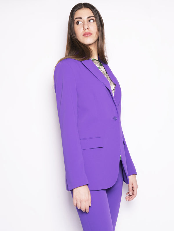 Panterya D420040 - Giacca in cady slim Viola-Giacche-P.A.R.O.S.H.-TRYME Shop
