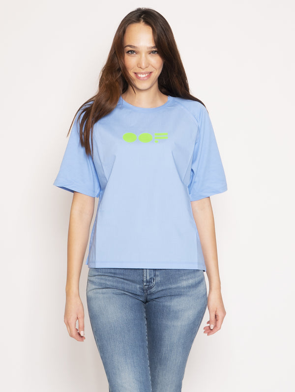 OOF-T-shirt con Stampa - Azzurro-TRYME Shop