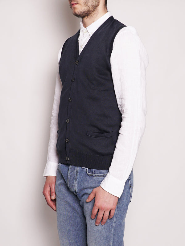 Gilet base frosted Blu Navy-Gilet-Alpha Studio-TRYME Shop