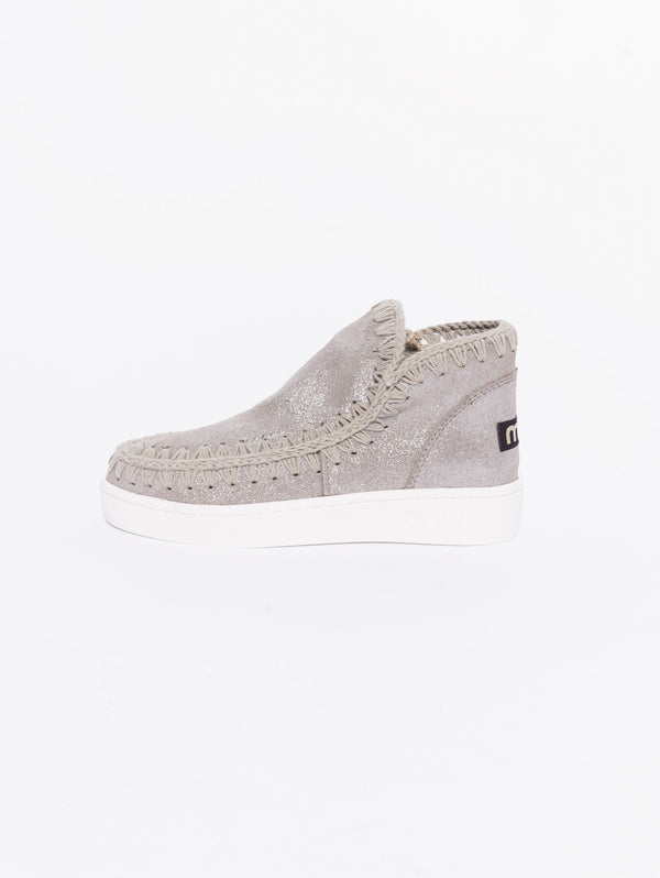 New low-cut summer eskimo sneaker perforated microglitter Grigio