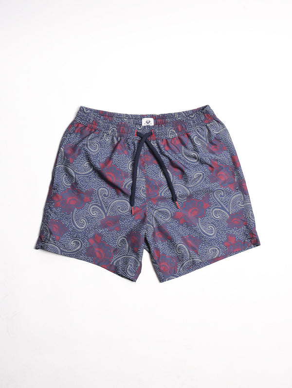 IN THE BOX-BOXER FLOWER INDIGO Blue Navy/ Burgundy-TRYME Shop