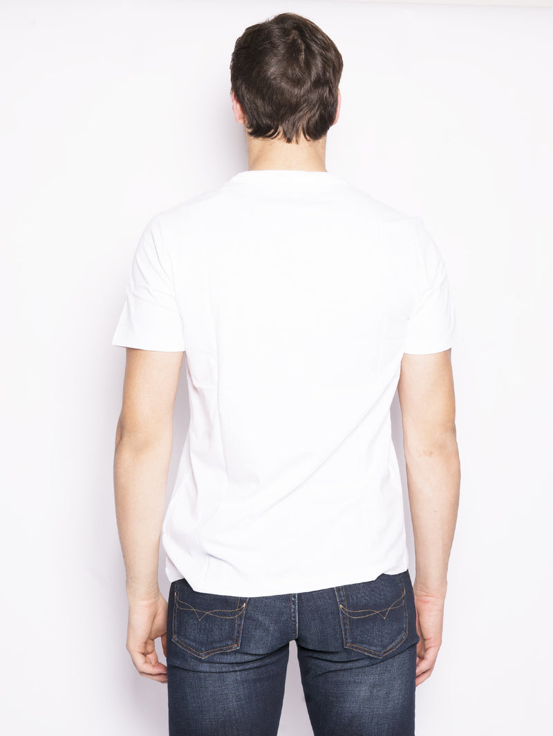 Maglietta in cotone Custom Slim-Fit Bianco-T-shirt-RALPH LAUREN-TRYME Shop