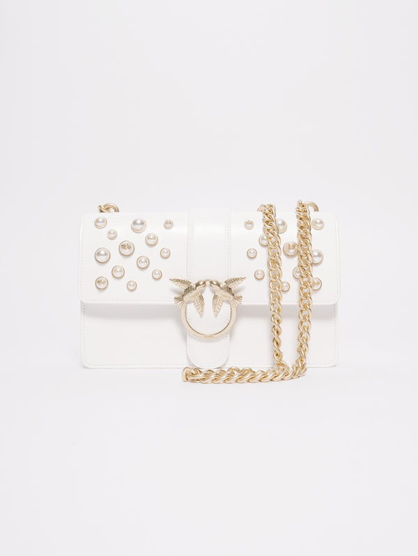 Love leather pearls Bianco-Borse-Pinko-TRYME Shop